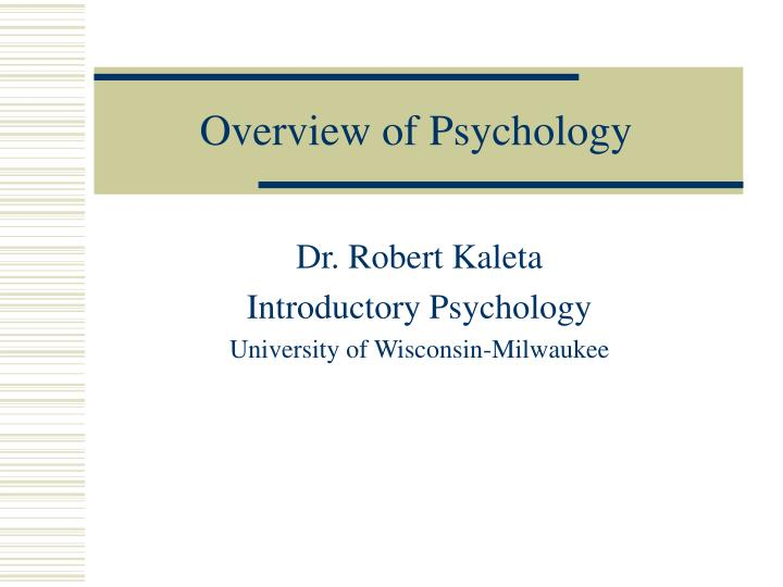 overview of psychology n.