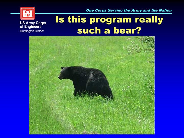 Is this program really such a bear?