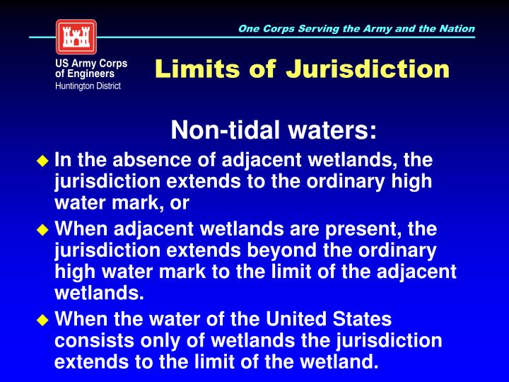 Limits of Jurisdiction