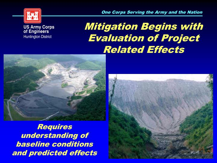 Mitigation Begins with Evaluation of Project Related Effects