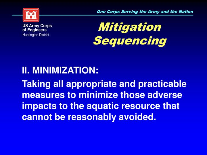 Mitigation Sequencing