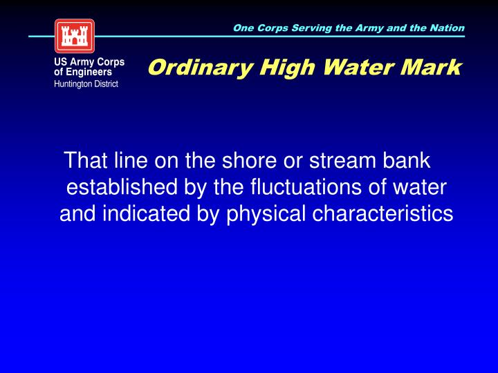 Ordinary High Water Mark