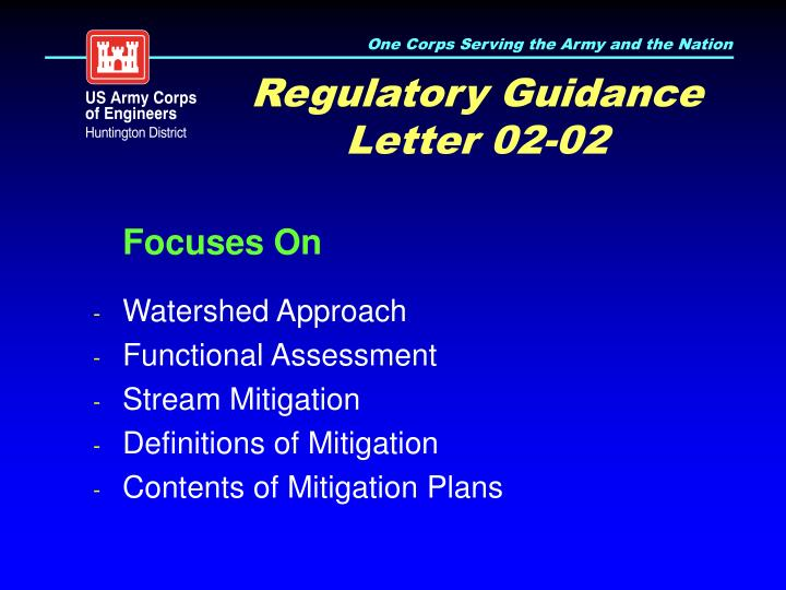 Regulatory Guidance Letter 02-02