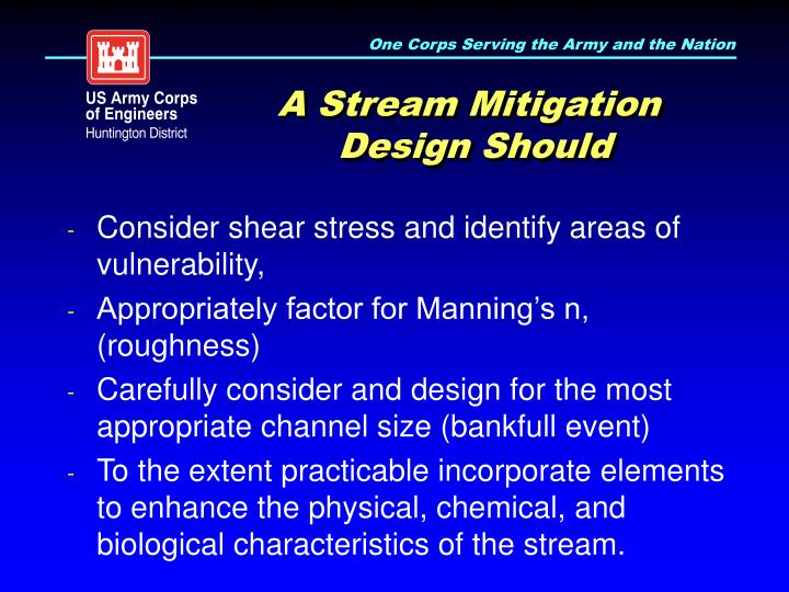 A Stream Mitigation