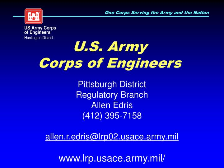 U s army corps of engineers