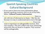 spanish speaking countries cultural background