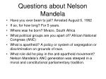 questions about nelson mandela