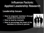 influence factors applied leadership research2