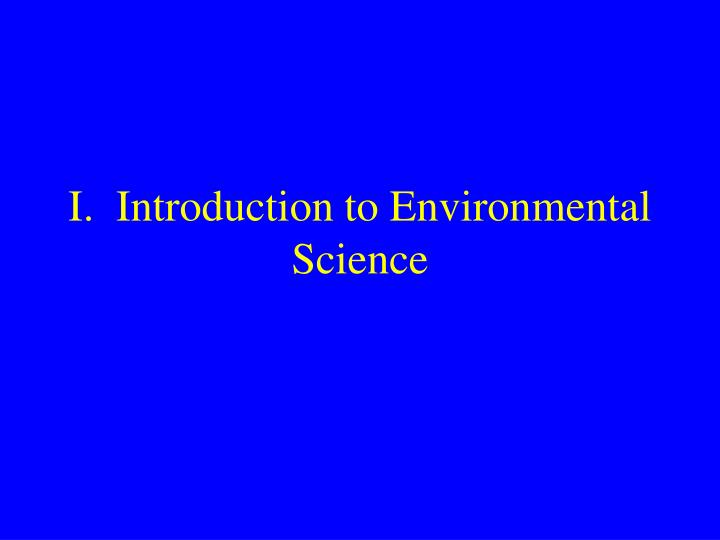 i introduction to environmental science n.