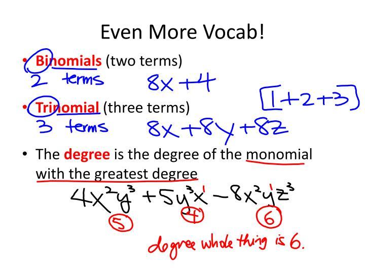 Even More Vocab!