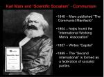 karl marx and scientific socialism communism