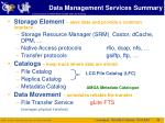 data management services summary