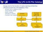 the lfc lcg file catalog