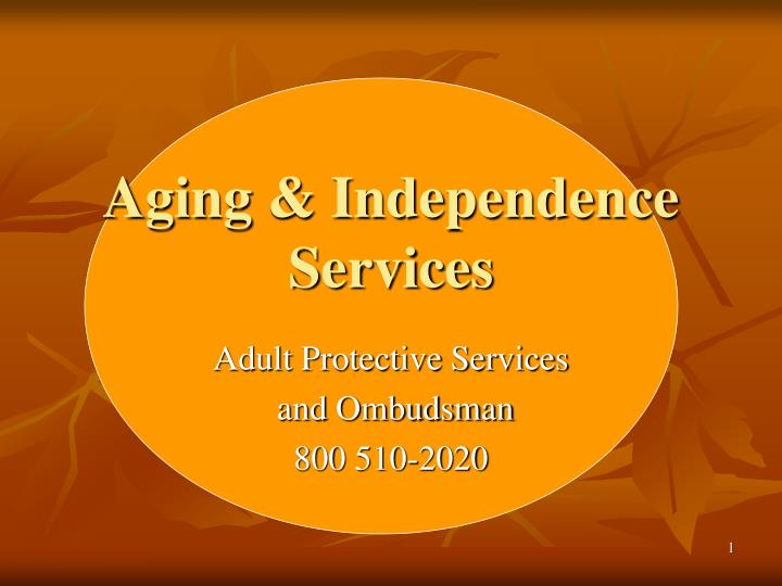 aging independence services n.