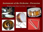 instruments of the orchestra percussion