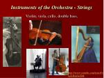 instruments of the orchestra strings