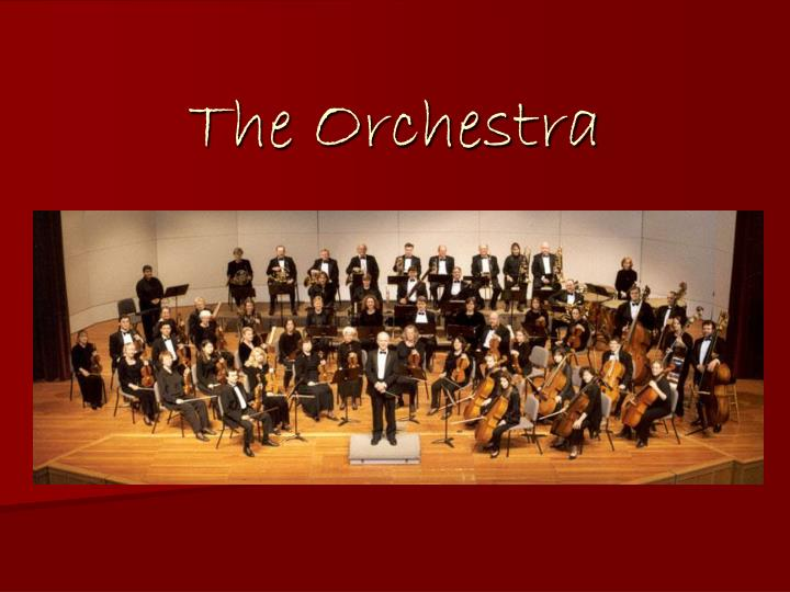 the orchestra n.