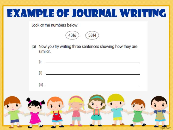 Example of Journal Writing
