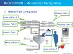 ind780batch material path configuration