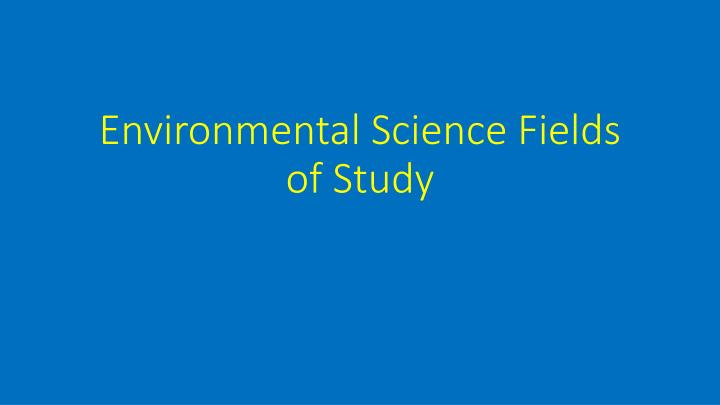 Environmental Science: Field Activities and Projects Guide ... |Environmental Science Fields
