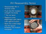 rv reassembly notes