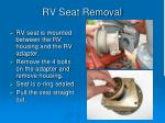 rv seat removal