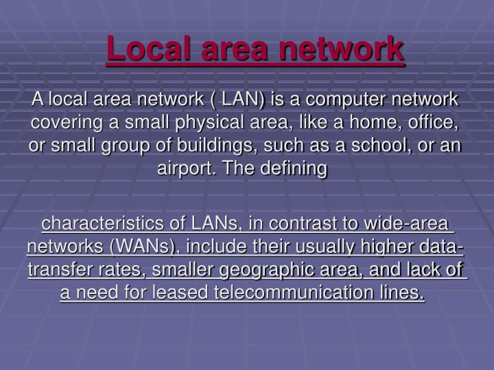 local area network n.