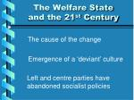 the welfare state and the 21 st century1