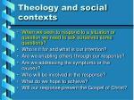 theology and social contexts1