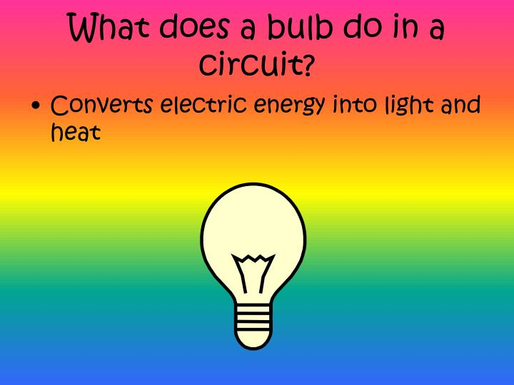 What does a bulb do in a circuit?