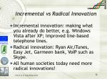 incremental vs radical innovation