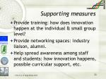 supporting measures