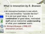 what is innovation by r branson