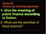 section ii answer the following questions