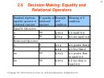 2 6 decision making equality and relational operators2