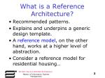 what is a reference architecture