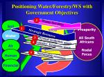 positioning water forestry ws with government objectives