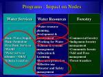 programs impact on nodes