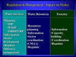 regulation management impact on nodes