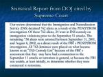 statistical report from doj cited by supreme court