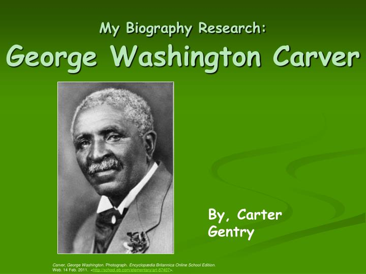 research papers george washington carver The money was used to establish the george washington carver research george washington george washington carver all papers are for research and.