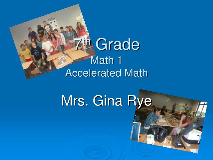 7 th grade math 1 accelerated math n.