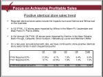 focus on achieving profitable sales1