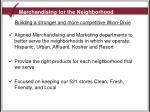merchandising for the neighborhood