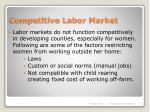 competitive labor market