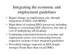 integrating the economic and employment guidelines