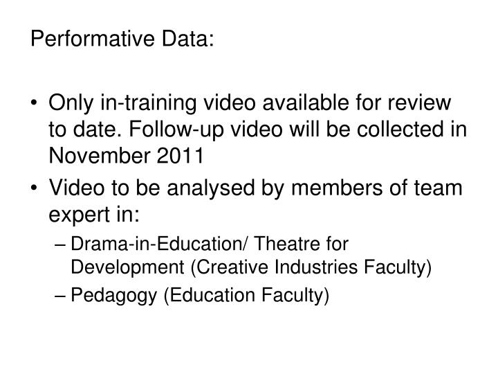 Performative Data: