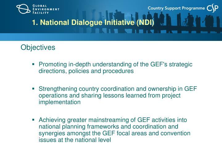 1. National Dialogue Initiative (NDI)