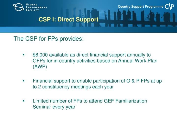 CSP I: Direct Support