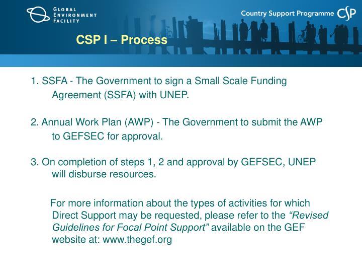 CSP I – Process